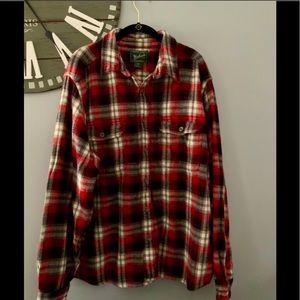 Woolrich plaid flannel button down shirt size XL